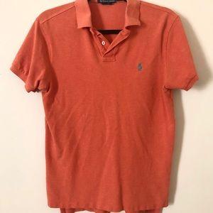 Men's Orange Ralph Lauren Polo Shirt